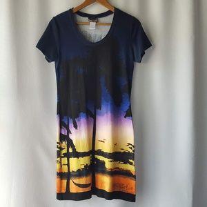 Tommy Bahama sunset beach t-shirt dress size S